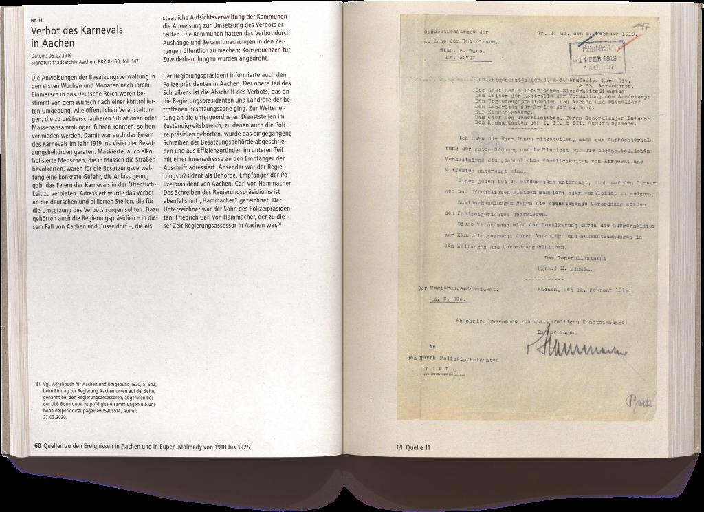 """""""Zwischen Belgien und Deutschland - Zum Staatswechsel Eupen-Malmedys 1919-1925"""""""